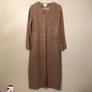 J. Jill | Vintage Linen Blend Maxi Dress M